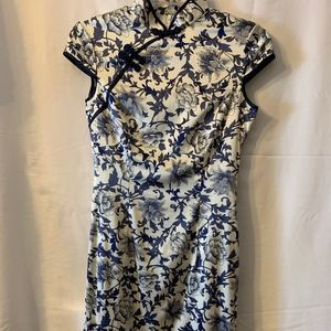 Beautiful Knee Length Chinese Dress Sz 4